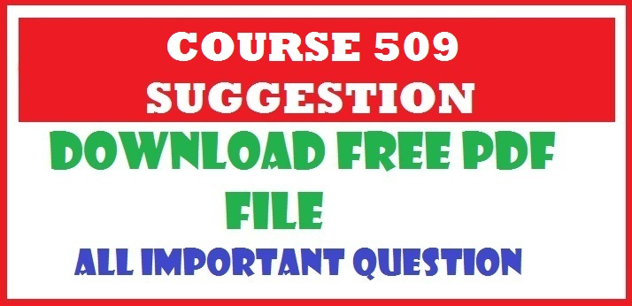 NIOS DLED COURSE 509 SUGGESTION